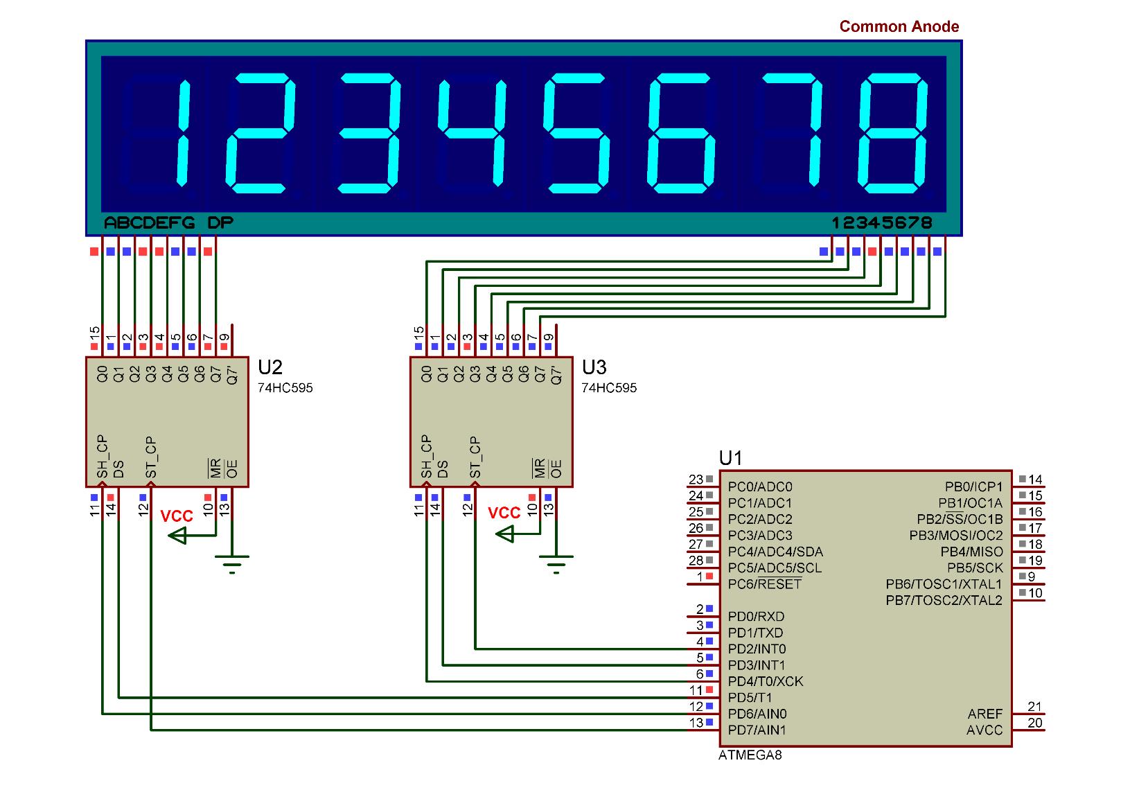Схема с семисегментным индикатором