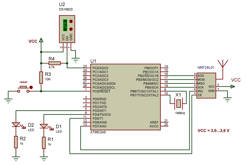 Wireless Remote Using 24 Ghz NRF24L01 : Simple